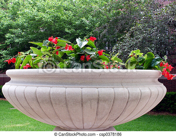 Big Pot   csp0378186. Big pot  Large concrete flower pot stock image   Search Photos and