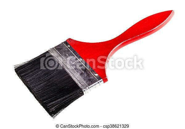 Big red paintbrush - csp38621329