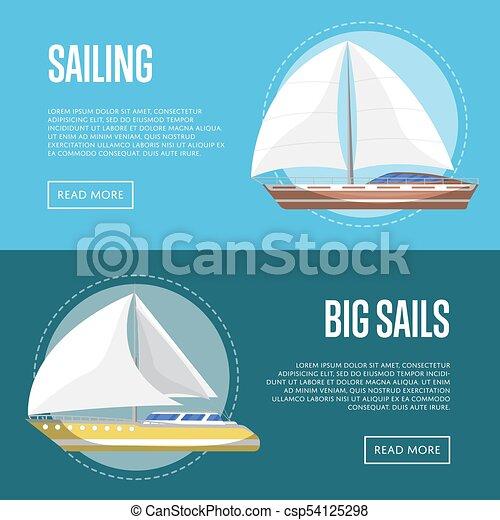 Big sails flyers with sailboats - csp54125298