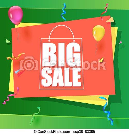 Big sale advertisement - csp38183385