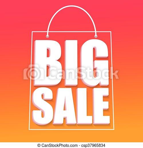 Big sale advertisement - csp37965834