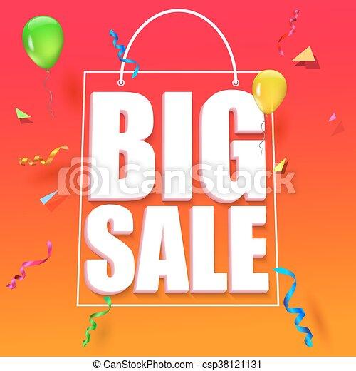 Big sale advertisement - csp38121131