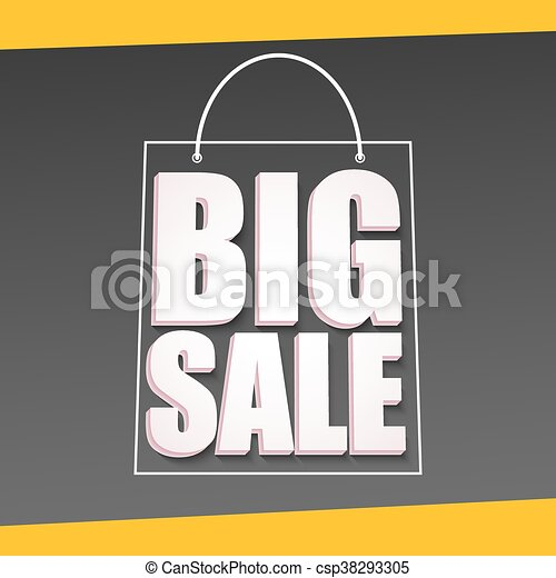 Big sale advertisement - csp38293305