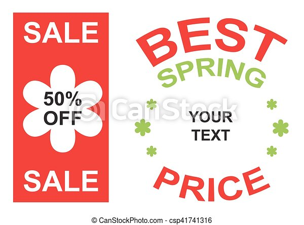 big sale and best spring price announcement vector - csp41741316