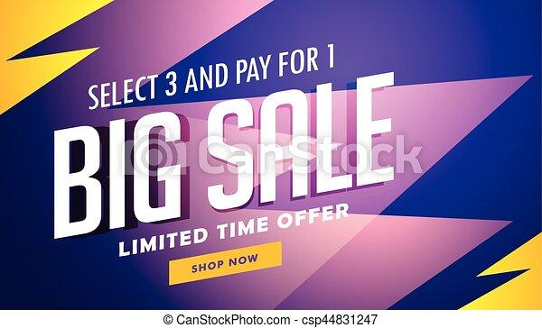 big sale banner design template in vector - csp44831247