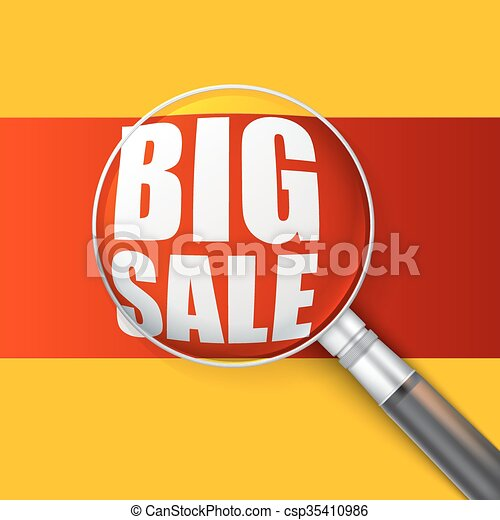 Big sale banner. - csp35410986