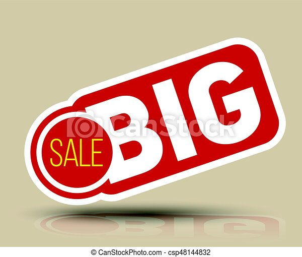 Big SALE banner for promotion advertising. - csp48144832