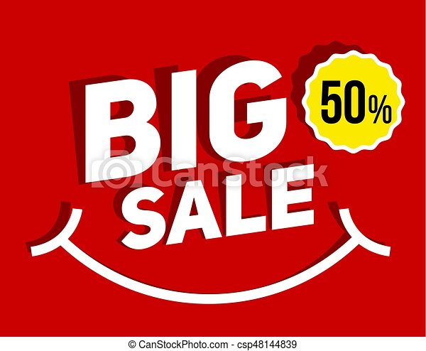 Big SALE banner for promotion advertising. - csp48144839