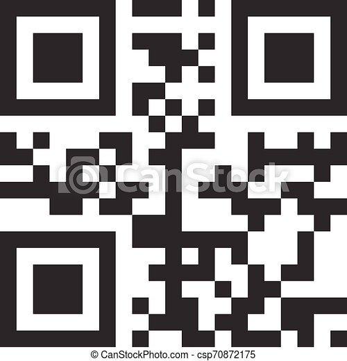 Big Sale data in qr code. Modern bar code . EPS 10 vector - csp70872175