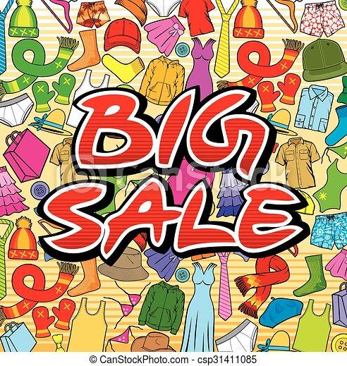 big sale design - csp31411085