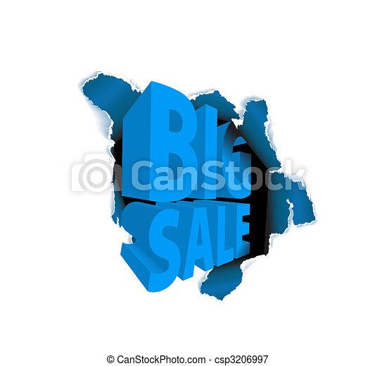 Big sale discount advertisement - csp3206997
