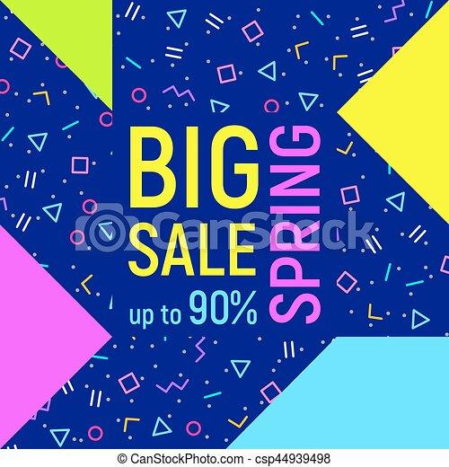 Big sale geometric background, memphis style - csp44939498