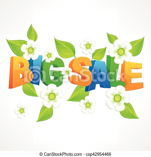 Big sale inscription spring - csp42954466