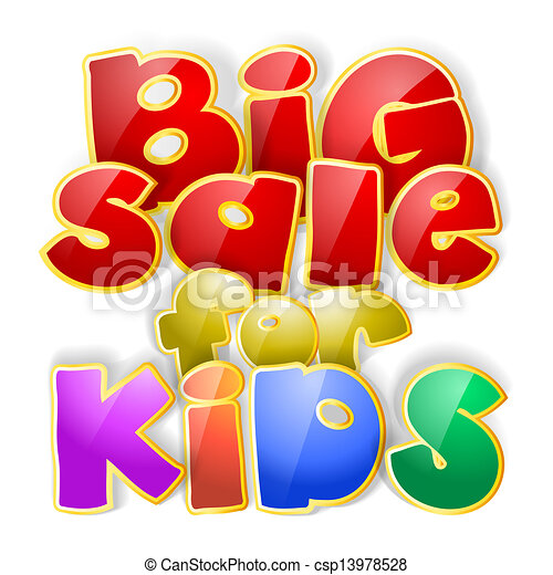 big sale sign for kids - csp13978528
