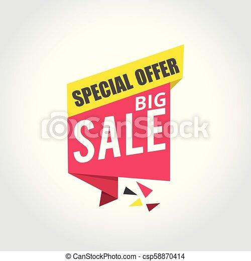 Big sale Super Sale, special offer banner - csp58870414