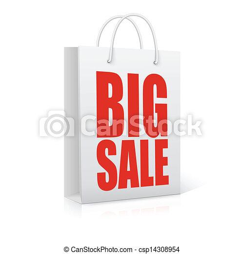 Big sale,  vector illustration - csp14308954
