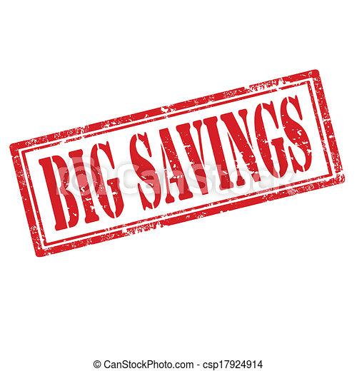 Big Savings-stamp - csp17924914