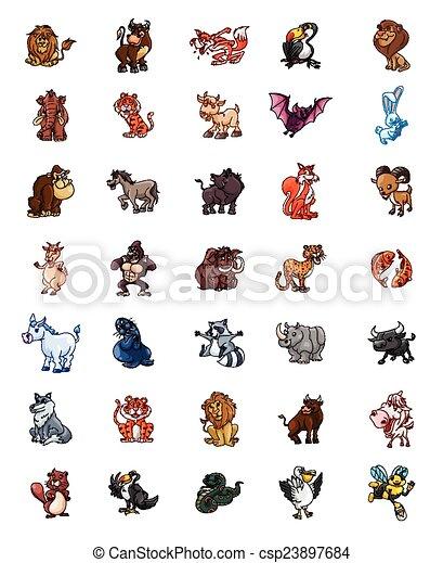 big set animals mega pack - csp23897684