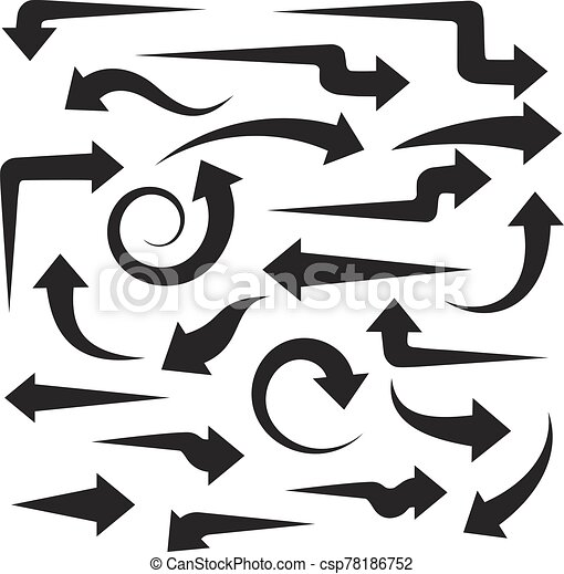 Big set of black arrows for your design - csp78186752