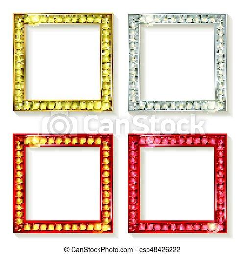 Big set of retro frames - csp48426222