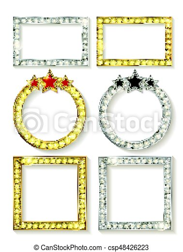 Big set of retro frames - csp48426223