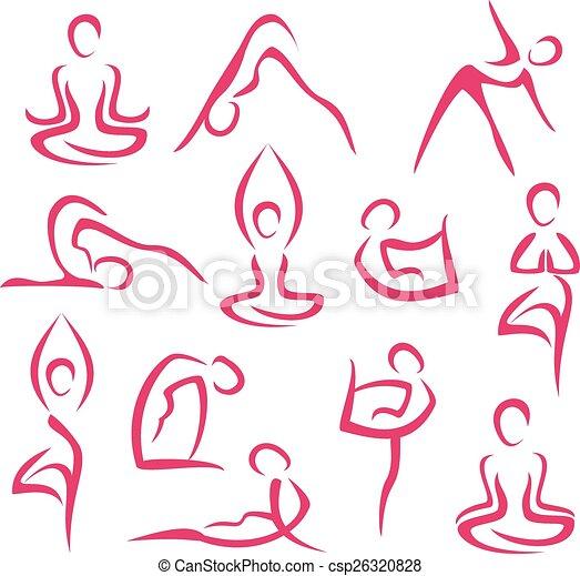 big set of yoga symbols - csp26320828