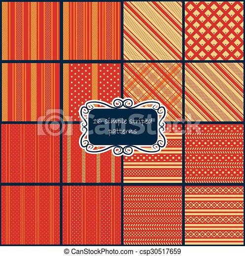Big-set-retro-red-patterns.eps - csp30517659