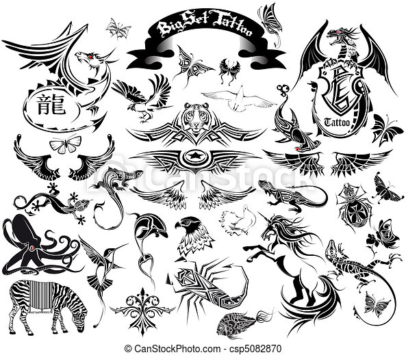 big set tattoo - csp5082870