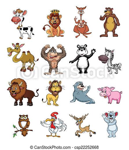 Big set Wild Animal Collection - csp22252668