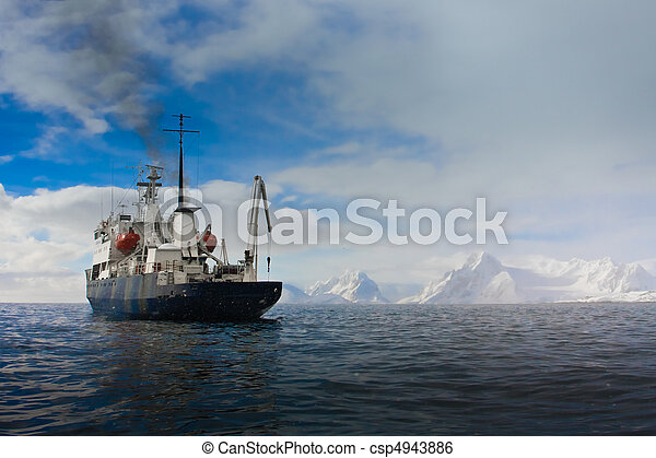 Big ship in Antarctica - csp4943886