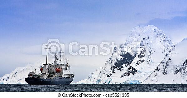Big ship in Antarctica - csp5521335