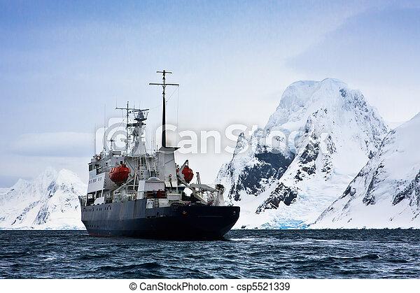 Big ship in Antarctica - csp5521339