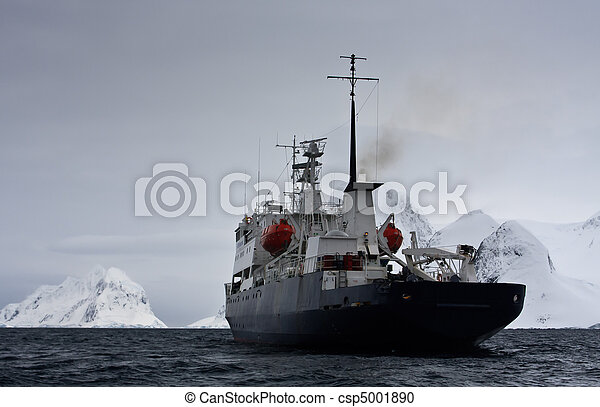 Big ship in Antarctica - csp5001890