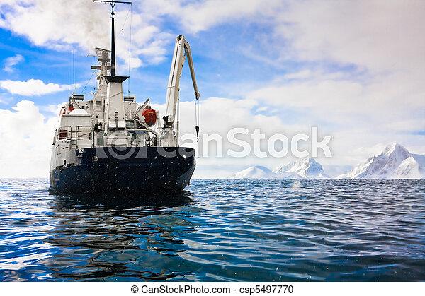 Big ship in Antarctica  - csp5497770