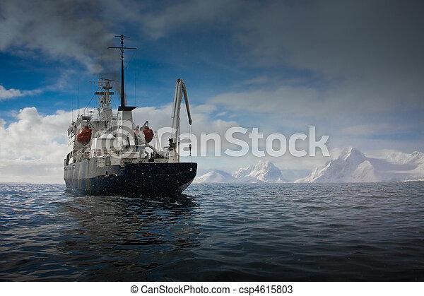 Big ship in Antarctica - csp4615803