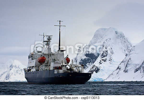 Big ship in Antarctica - csp5113013