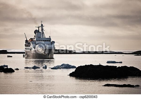 Big ship in Antarctica - csp6200043
