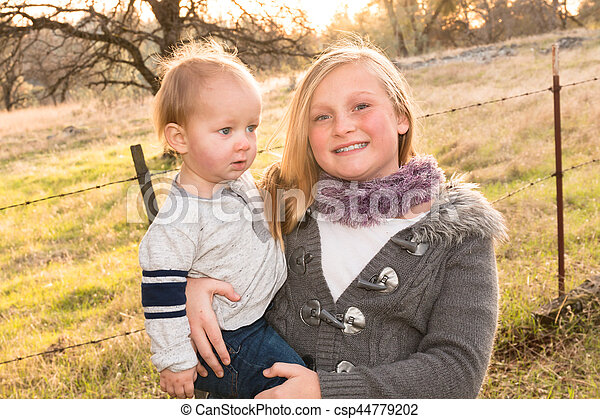 Big Sister With Little Brother - csp44779202