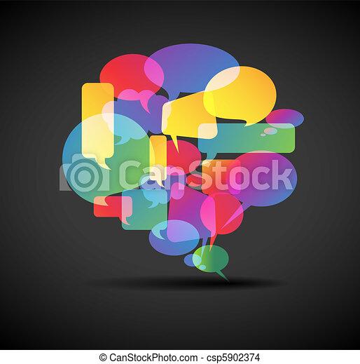 Big speech bubble - icon for social media - csp5902374