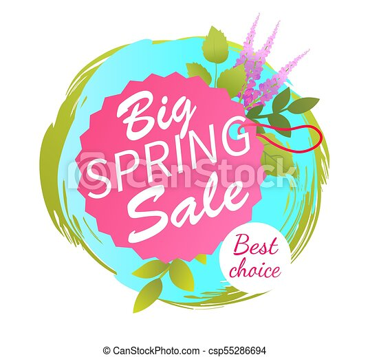 Big Spring Sale Best Advertisement Label Lavender - csp55286694