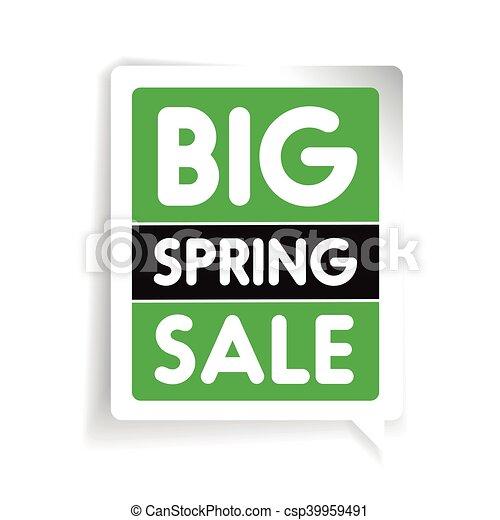 Big spring sale vector - csp39959491