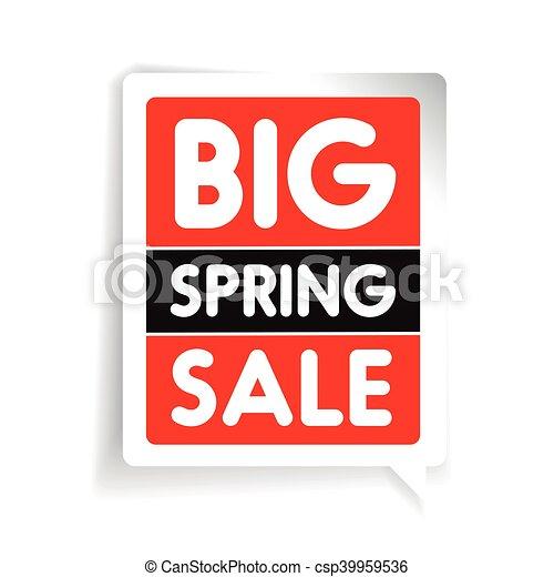 Big spring sale vector - csp39959536