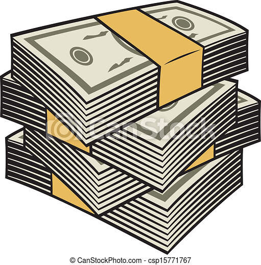 big stack of money clip art vector search drawings and graphics rh canstockphoto com Raining Money Money Clip Art