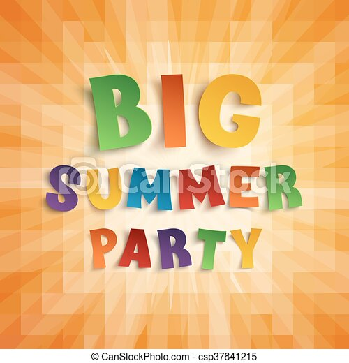 Big Summer Party Poster Template