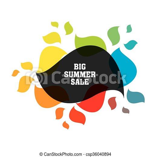 big summer sale banner design - csp36040894
