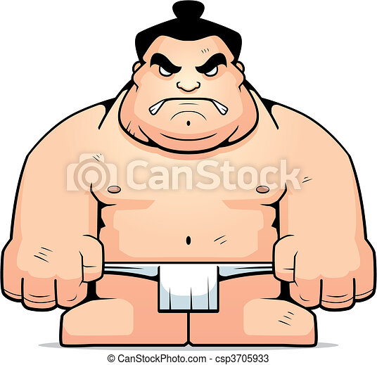 Sumo Is Fun For The Whole Family, Even When The Wrestlers - Sumo Wrestler  Cartoon Vector Clipart (#693182) - PinClipart