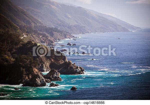 Big Sur View Along The Pacific Coastline - csp14616666