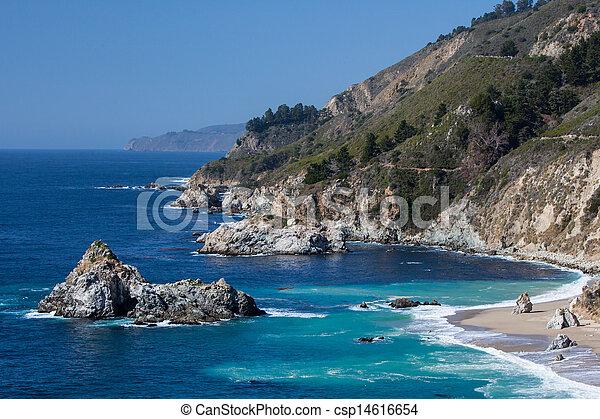 Big Sur View Along The Pacific Coastline - csp14616654