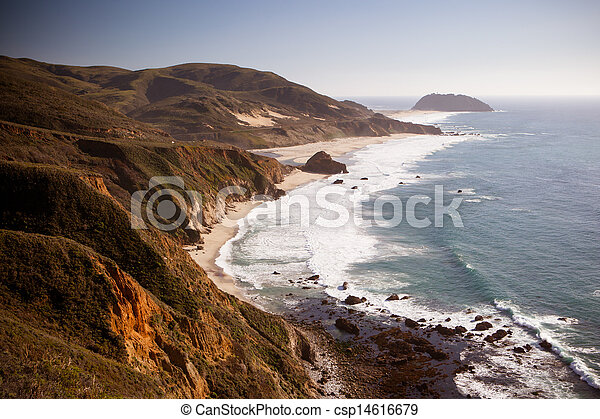 Big Sur View Out To Sea - csp14616679
