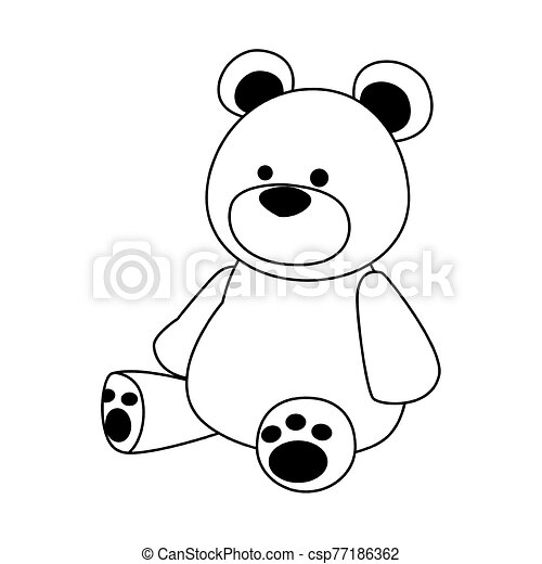 big teddy bear icon - csp77186362